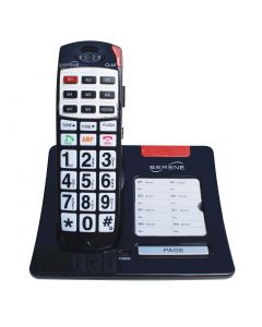 Loud Cordless Phone For Seniors With Hearing Loss - 50+dB Amplifications - Big Buttons - Talking CID